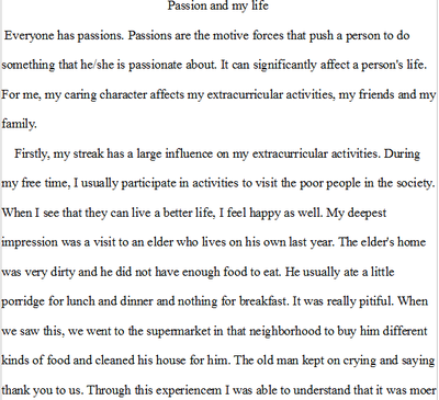An essay about my passion
